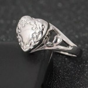 Heart cremation urn ring